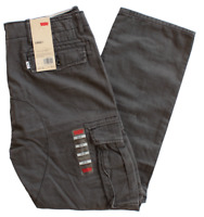 NEW MENS LEVIS RELAXED FIT ACE CARGO PANTS GRAPHITE DARK GRAY 124620049