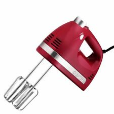 Chefman Ultra Power 5-Speed Hand Mixer, Empire Red, RJ17-V2-RED NEW!