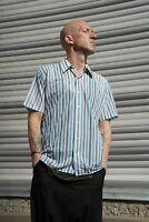Welton DDR DEDERON kurzarm Herrenhemd Hemd nylon TRUE VINTAGE 70s GDR mens shirt