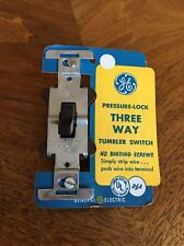 GENERAL ELECTRIC GE NEW OLD STOCK THREE WAY TUMBLER SWITCH Brown Bakelite CLICK