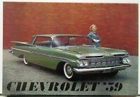 1959 Chevrolet Belair Nomad Impala Kingswood Biscayne Sales Folder Original