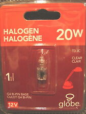 Halogen Bulb 20W 20 Watt G4 Bi-Pin Base T3 JC 12V Clear  NIB