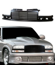 For 1998-2004 Chevy S10 Blazer/Truck Black Horizontal Billet Front Bumper Grille