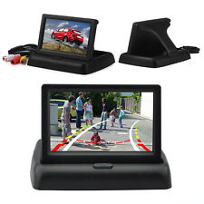 "4.3"" Display Monitor TFT Digital LCD Color SunShade Screen Car Rearview Parking"