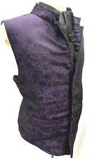 "Halloween Special Raven Romantic Gothic Waistcoat, Cravat Pin Size 42/44"""