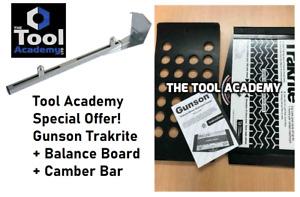 Gunson Trakrite Wheel Alignment Tracking Gauge Tool + Balance Board + Camber Bar