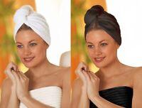 Turbie Quick Drying Hair Towel Twist Wrap Loop Button Hat Cap Turban Shower Bath