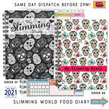 Food Diary Slimming World Compatible Planner Tracker Diet Book Skulls stickers