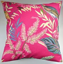 "Cushion Cover in Next Paradise Bird Floral Fuschia 16"" Matches Curtains Bedding"