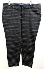 OLD NAVY WOMEN'S PIXIE PANTS BLACK WHITE SPECS ANKLE SIZE 14