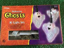 New Set Of Ten Halloween Noma Iridescent Blow Mold Ghosts Novelty Lights