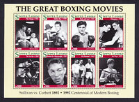 Stamp Sheet / Block Sierra Leone Greatest Boxing Movies Films Boxer Movie 1992