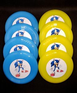 Sonic the Hedgehog Birthday Party Mini Frisbees Set of 8 Favors