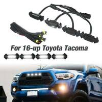 Smoke Front Grille White LED Lights 4PCS for 16-up Toyota Tacoma w/TRD Pro Grill
