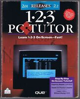 1-2-3 PC Tutor For Release 2.01 & 2.2 w/ 5 1/4 inch floppy Free USA Shipping!