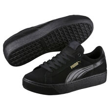 Puma Vikky Platform Women's Trainers Black Shoes - Sneakers Joggers Runners NEW