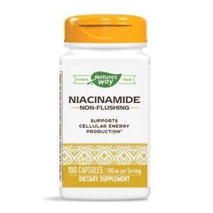 Natures Voie - Vitamine B-3,Niacinamide,500mg X 100 Capsules