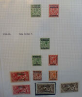 BRITISH COMMONWEALTH MOROCCO AGENCIES GEO. V 1912-26 11 STAMPS