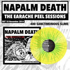 "Napalm Death ""The Earache Peel Sessions"" Slime Verde/Yellow vinile LP - 400"
