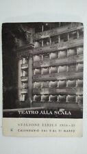 MARIA CALLAS TEATRO ALLA SCALA ORIG. CALENDAR LEAFLET SEASON 1954/55 MARCH