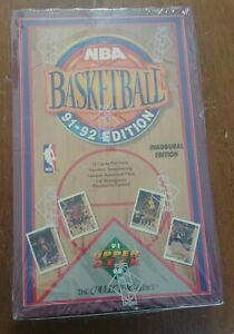 Upper Deck 1991-92 Basketball Inaugural Series wax box factory sealed