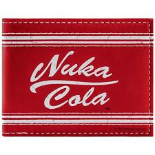 New Official BETHESDA FALLOUT NUKA COLA Rouge ID & carte Bi-Fold Portefeuille