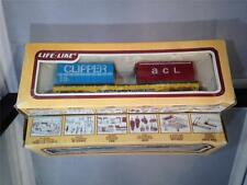 "LIFELIKE VINTAGE COLLECTABLE FLAT CAR W/CONTAINER LOAD ""TRAILER TRAIN"" HO SCALE"