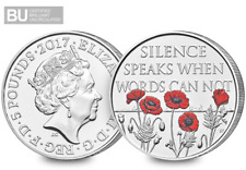 2017 Remembrance Day CERTIFIED BU £5 Coin [Ref H5BUC023]