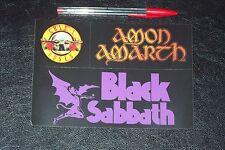 3 STICKERS from: BLACK SABBATH GUNS 'N ROSES AMON AMARTH
