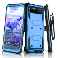 For Samsung Galaxy S10 S10e S8 S9 Plus 360 Full Shockproof Case Cover +Belt Clip
