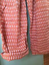 MATTA NY Large Cotton Jumpsuit Romper One Piece Ikat Print Drawstring Waist NEW!