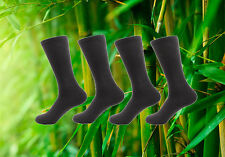 4 pairs Men's Rayon from Bamboo Fiber Mid-Calf Socks - Size M/L Charcoal
