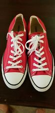 Converse All Star RED Sneakers Shoes Unisex Mens 13 Womens 15 *EUC*