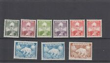 Greenland Scott 1-9 First definitive 1938 Mint never hinged Polar bears & King