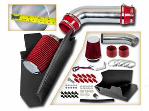 BCP RED 96-99 GMC C1500 K1500 Suburban 5.0/5.7 V8 Heat Shield Cold Air Intake