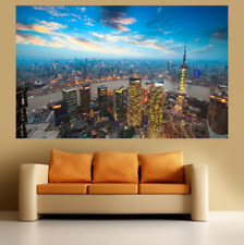 Shanghai Sunset Large Poster Wall Art Print Deco Home - A0 A1 A2 A3 A4