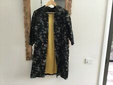 Vintage black silk satin Chinese dressing gown retro