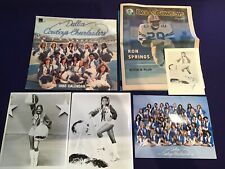 DALLAS COWBOYS CHEERLEADERS 1980 Photo Calendar Tami Barber Signed Autograph LOT