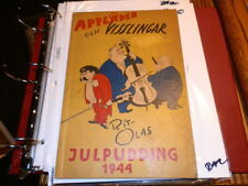 #3009,Rare Swedish Wwii Comic Character Booklet Applader Visslinger 1944