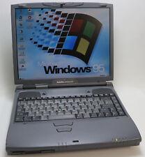 """Win 95 Retro Laptop Toshiba Satellite 4090 XCDT 4 GB 14,1"""" RS-232 Vintage DOS"""