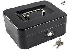 Kyodoled Medium Small Cash/Lock Box/Small Safe with Money Tray and 2 keys