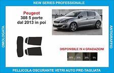 pellicole oscuranti vetri peugeot 308 5 porte dal 2013 in poi kit posteriore