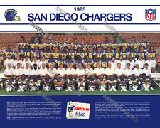 1985 SAN DIEGO CHARGERS 8X10 TEAM PHOTO PICTURE JOINER WINSLOW FOUTS