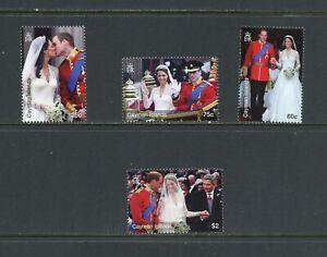 B475  Cayman Islands  2011  Royal Wedding   4v.      MNH