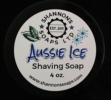 Shannon's Soap Shaving Soap: Aussie Ice. Tallow/Lanolin/Essential Oil 4 ounce.
