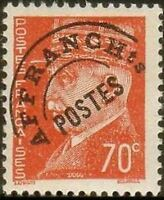 "FRANCE PREOBLITERE TIMBRE STAMP N°84 ""TYPE PETAIN 70c ROUGE ORANGE "" NEUF xx TTB"