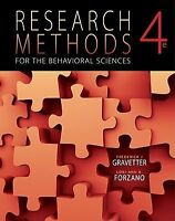 Research Methods for the Behavioral Sciences, 4th Edition by  Frederick J