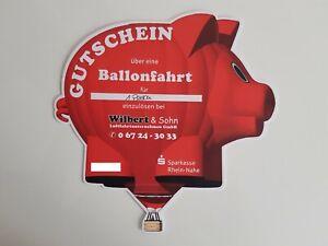 Ballonfahrt Gutschein für 1 Person des Luftfahrtunternehmens Wilbert & Sohn