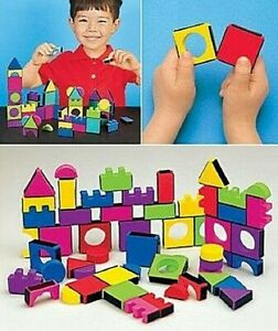 Kids Magnetic Blocks 108 Pieces Colorful Foam Blocks Make Imagination Leads +4