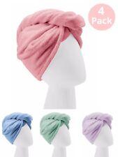 Turbie Twist Microfiber Towels 4-Pack, Pink, Purple, Blue, Aqua - Free Shipping!